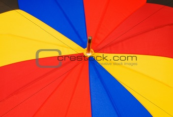 Close up of multi sector colorful umbrella