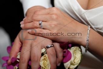 Bride and groom - rings.