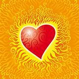 Flames heart