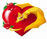 The gold dragon heart hugs