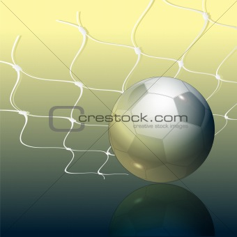 Footbal and grid