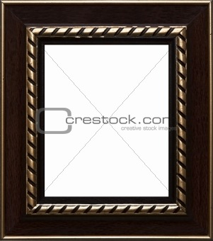 old russian style vintage golden ornament frame