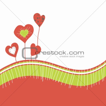 Card with abstract heart.vector illustration