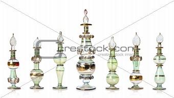 Green oriental perfume bottles