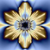 Bronze and Blue Flower