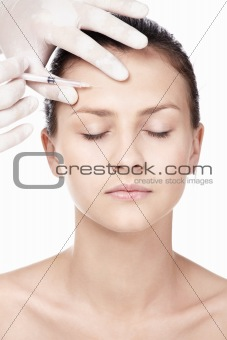The injection of Botox