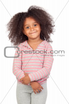 Adorable african little girl with beautiful hairstyle