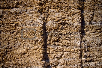 Cracked clay wall