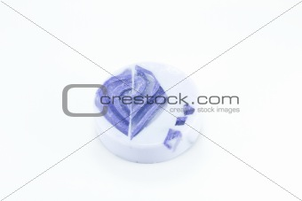 lavender soap isolated