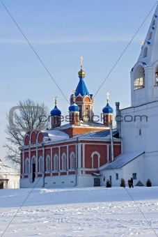 Church and Belfry in winter Kolomna