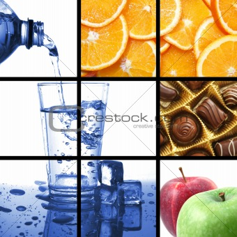 food and drink collage