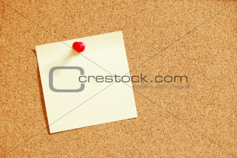 blank sheet paper on bulletin board