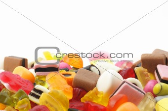 candy and copyspace