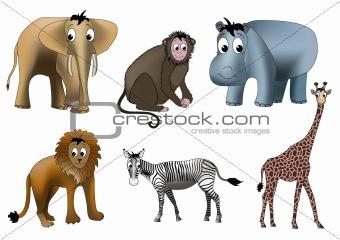 African animals (vector)