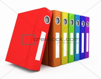 3d color business books
