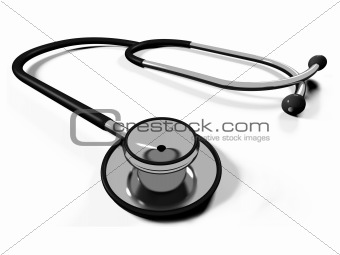 3d doctor's stethoscope