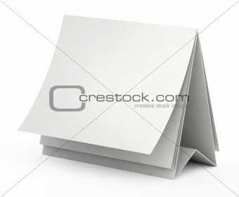 3d blank white form