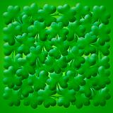 Happy St Patricks Day Shamrock Leaves Background