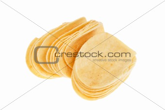 slices of potato chips