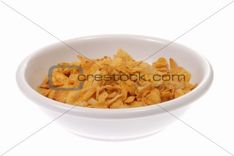 Bowl with corn flakes