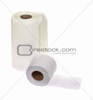 towel and toilet paper