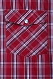 pocket on shirt in red check