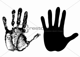 Image of open palm - vector from Crestock Stock Photos