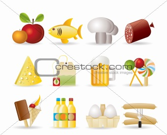 food, drink and shop icons