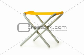 Beach chair isolated on the white background