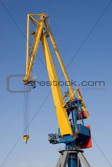 One big industrial crane
