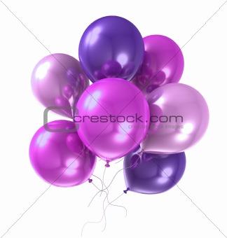 3d color helium balloon