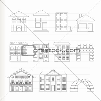 different kinds of houses and buildings