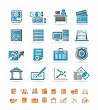 bank, business, finance and office icons