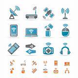 Wireless and communication technology icons