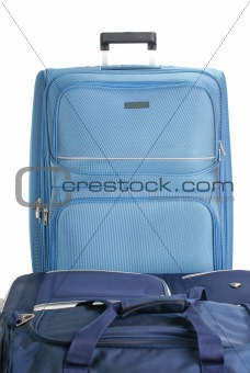 Travel suitcases isolated on white. Luggage