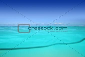 waterline caribbean sea underwater beach