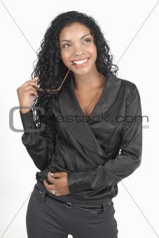 Beautiful brunette businesswoman