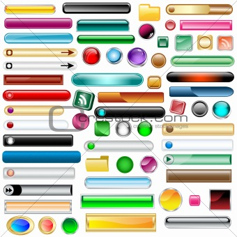 Web buttons set of 63