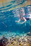 Woman snorkeling