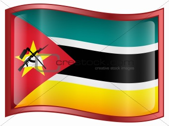 Mozambique Flag Icon.