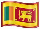 Sri Lanka Flag Icon.