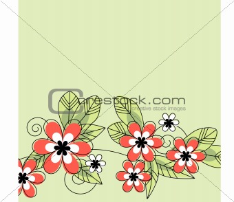 Abstract contour flowers