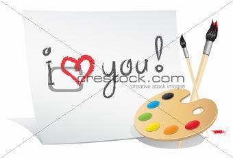 Valentine card of the artist