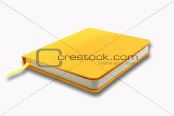 Blank   Notebook on white isolated background