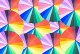 Many colorful pastel umbrellas for background or wallpaper use