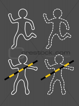 accident outline of man