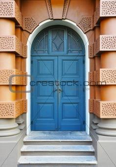 Beautiful blue front door