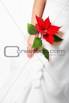 Bride with red flower