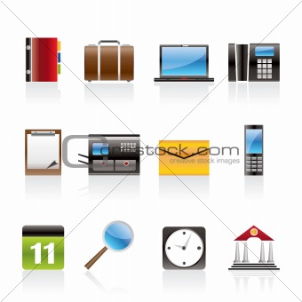 Business, Office and Mobile phone icons