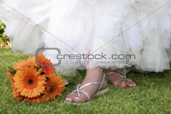 bride's sandals